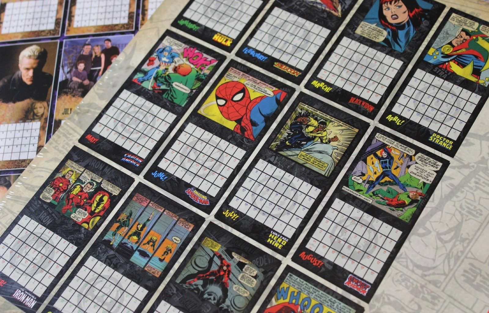 A picture of the Official 2015 Marvel Calendar