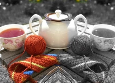 Organizador con bolsillos de sillón o cama a crochet