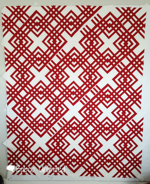 BabcoUnlimited.blogspot.com - Red & White Quilt, 2 Color Quilt, Carpenter's Square Block