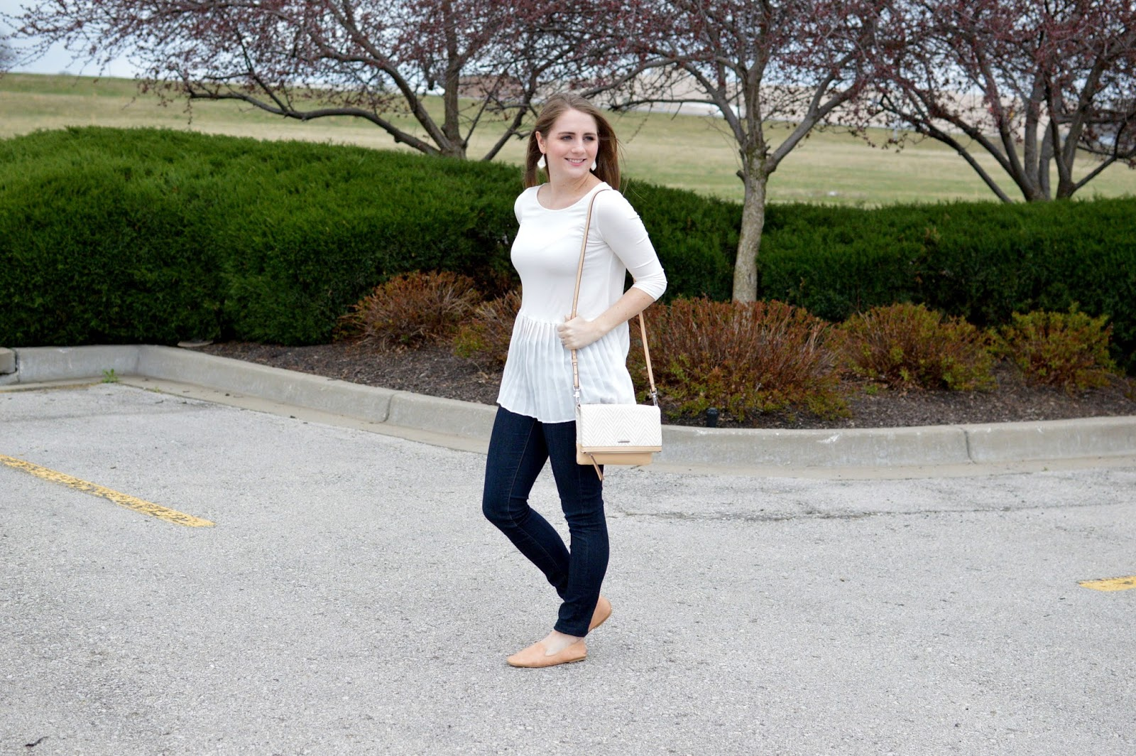 white peplum top for springs
