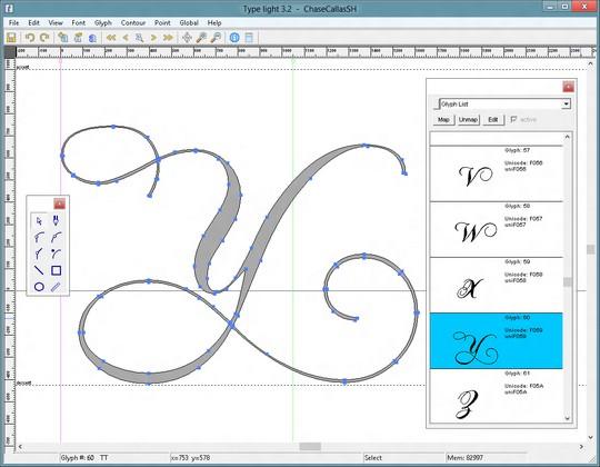 Type light, una herramienta gratuita para crear y editar fuentes