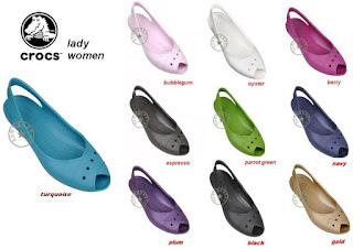Model Sepatu Sandal Crocs Wanita Modis dan Trendy