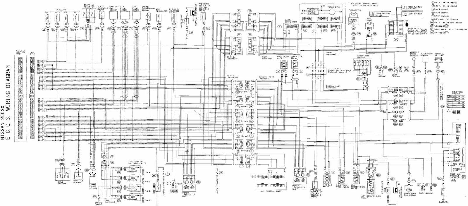 1996 nissan 200sx radio wiring