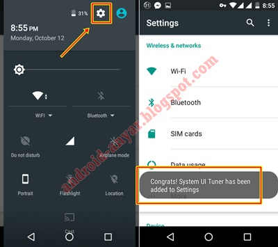 How to enable System UI Tuner Android One