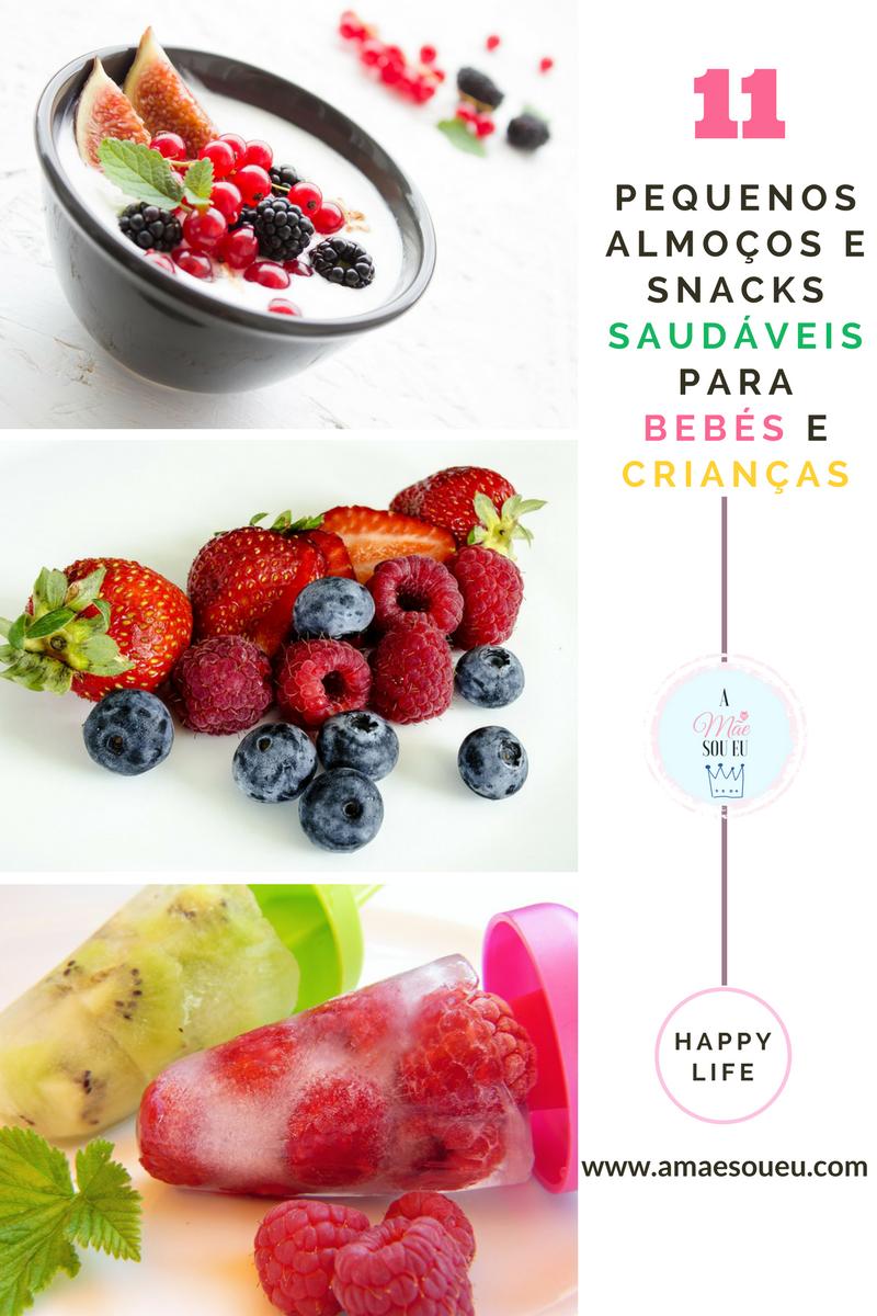 11 Pequenos Almoços e Snacks Saudáveis Para Bebés e Crianças - www.amaesoueu.com - #alimentação saudável #receitas #bebés #crianças