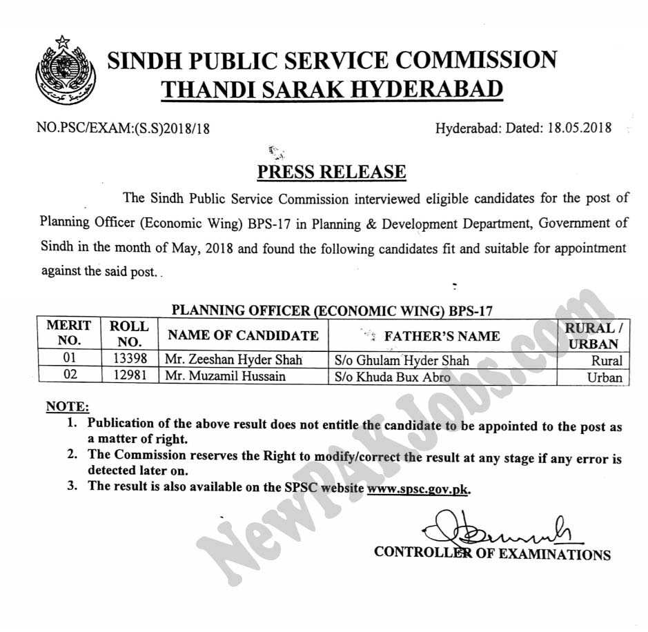 merit-list-spsc-newpakjobs