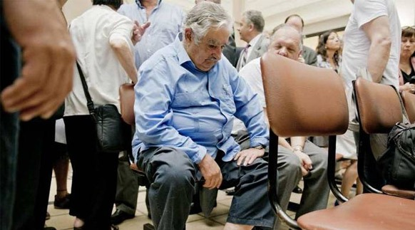 Jose Mujica, Uruguayan President. At public hospitals, he waits for his turn like his fellow citizens.