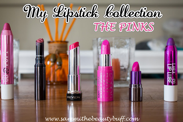 My Lipstick Collection: The Pinks, featuring Urban Decay, Laqa & Co, MAC, CoverGirl, and more!