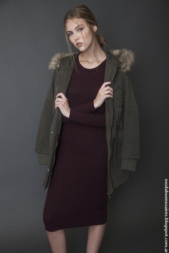 Parkas invierno 2016 ropa de mujer Bled. Moda invierno 2016.