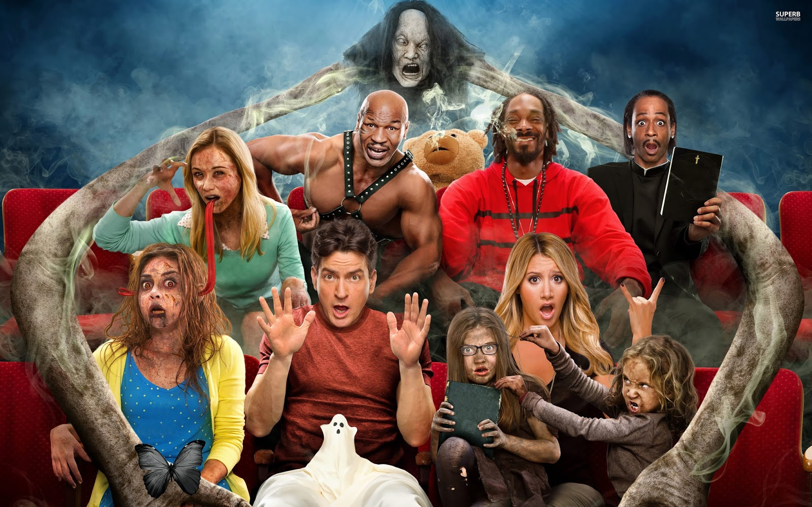 Scary movie collection 2000 2013 tainies for you - Scary movie 5 wallpaper ...