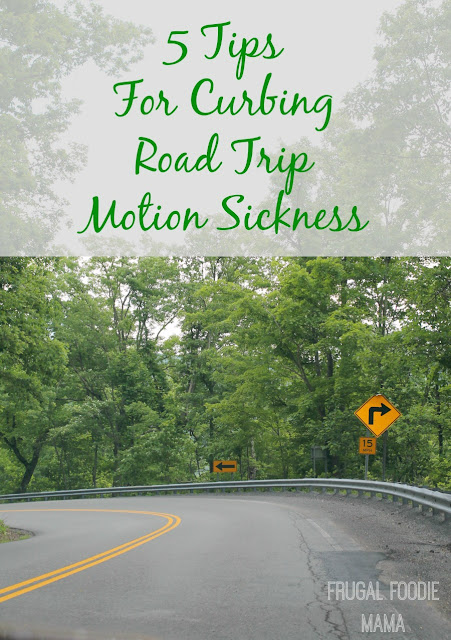 5 Tips for Curbing Road Trip Motion Sickness- give nausea the boot on your next road trip! #Dramamine #CG