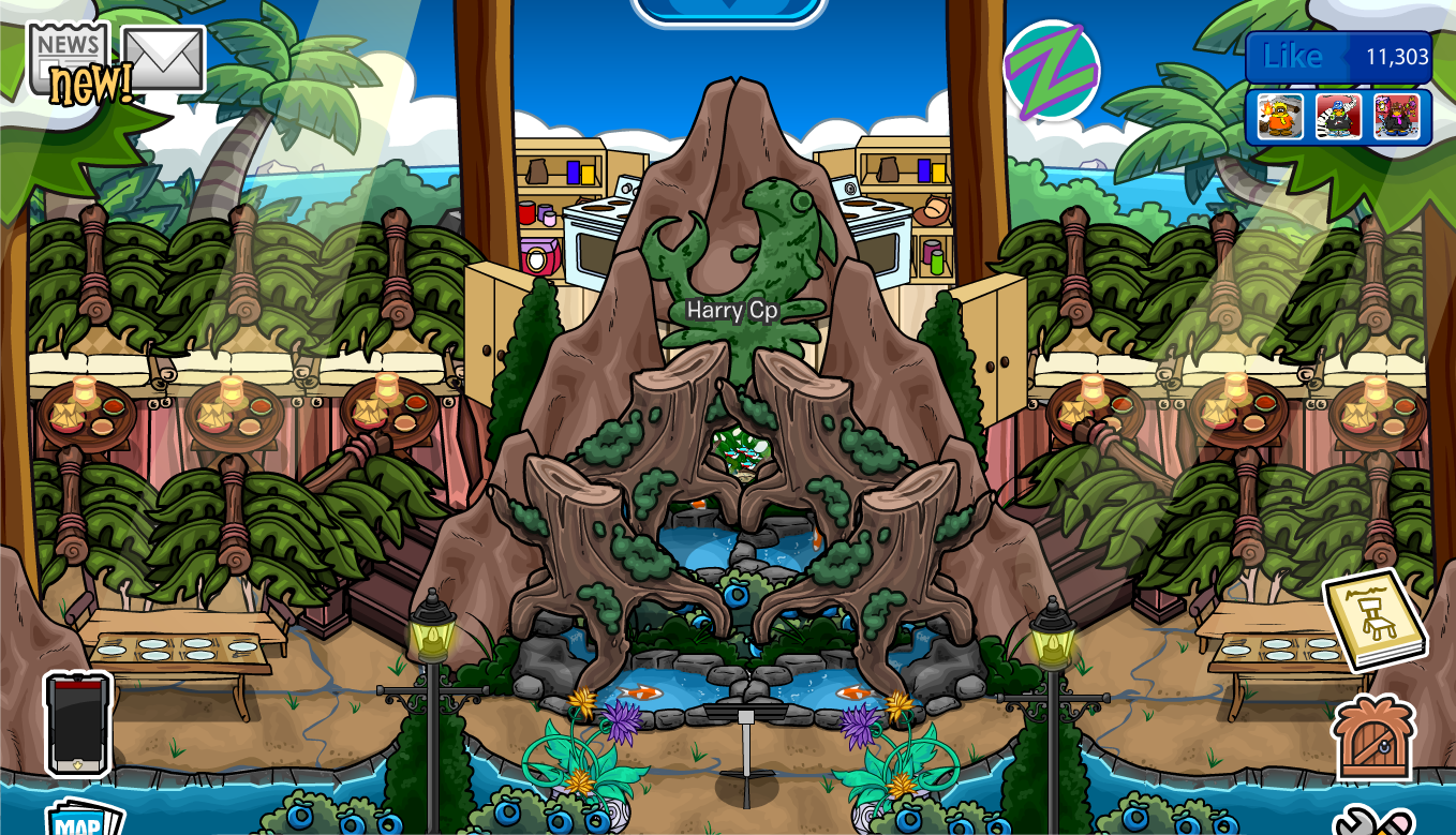 Club penguin igloo ideas outdoor restaurant igloo harry cp for Harrys fish camp
