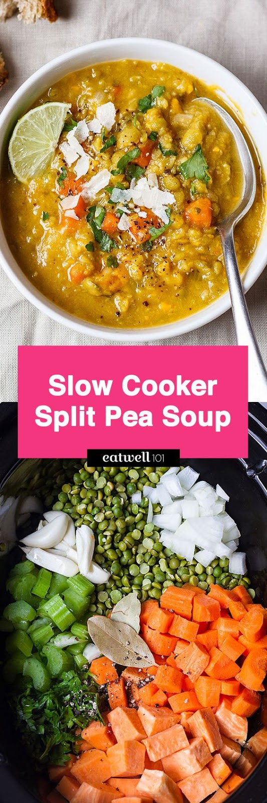 Slow Cooker Sweet Potato Split Pea Soup