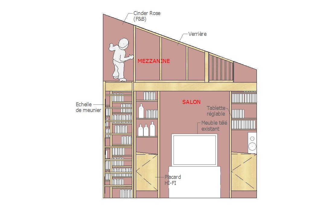 Pascal ponchon architecte d 39 int rieur vannes morbihan bretagne cr ation d 39 un salon biblioth que - Architecte d interieur vannes ...
