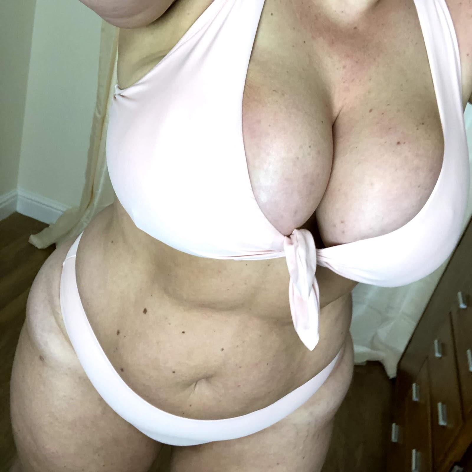 Forever 21+ Blush Tie Front Bikini
