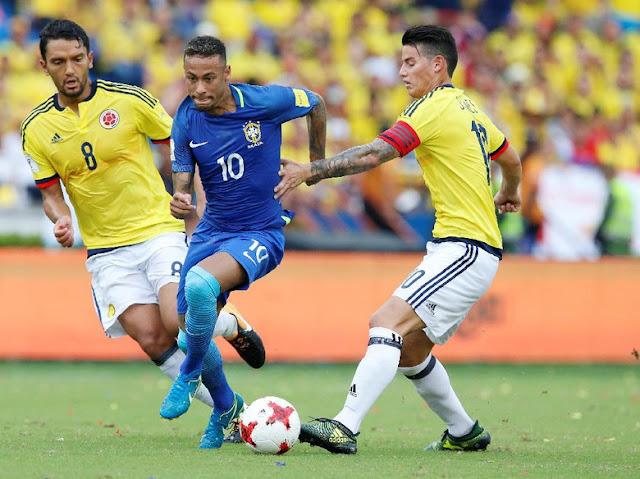 Brasil Imbang 1-1 Lawan Kolombia