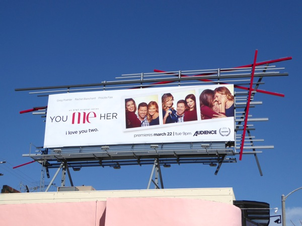 You Me Her series launch billboard