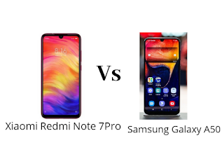 Xiaomi Redmi Note 7Pro Vs Samsung Galaxy A50- Full Comparison