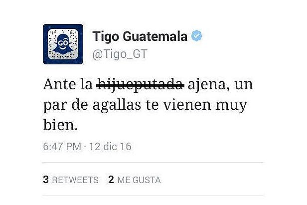 tuiteros defienden a community manager de Tigo Guatemala por publicación con lenguaje soez
