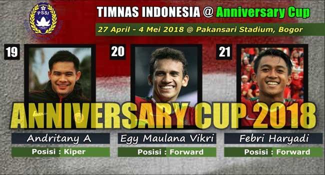 24 Pemain Timnas PSSI Ajang Anniversary Cup