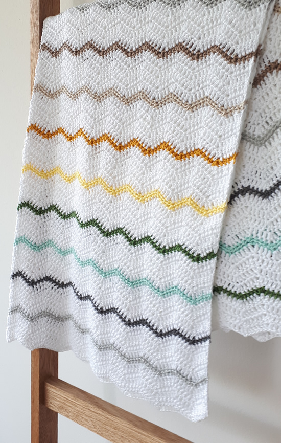 Crochet zig zag blanket, crochet chevron blanket | Happy in Red