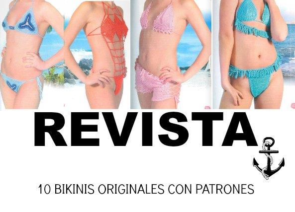 10 Bikinis a crochet patrones. Revista