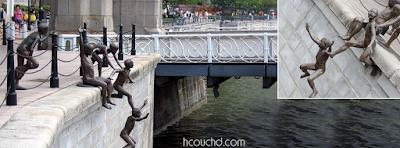 تمثال شعب النهر في سنغافورة