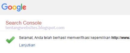 verifikasi situs di google search consol (webmaster)