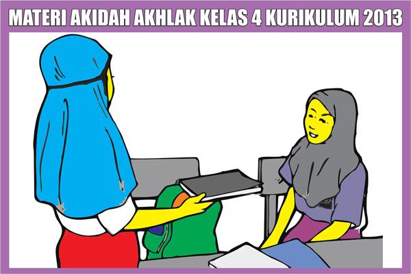 Materi Akidah Akhlak Kelas 4 MI/SD Semester 1/2 Kurikulum 2013