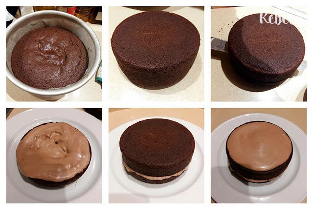 Receta de bizcocho de chocolate (pound cake o cuatro cuartos) 04