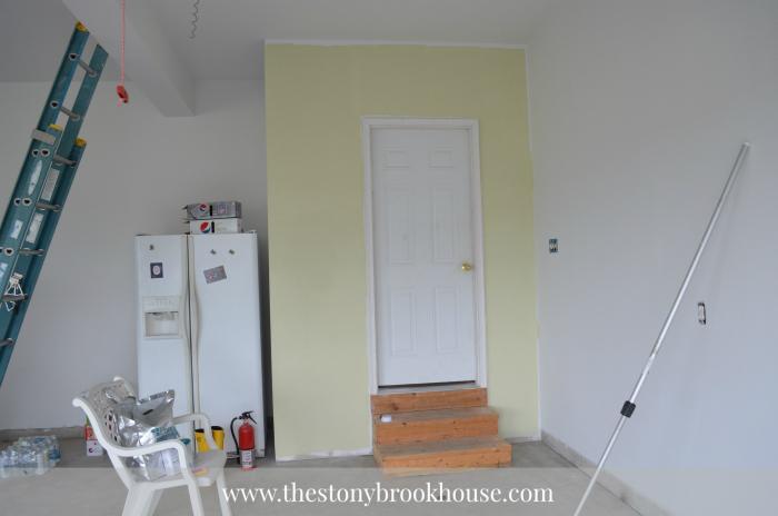 Painted Back Door Area