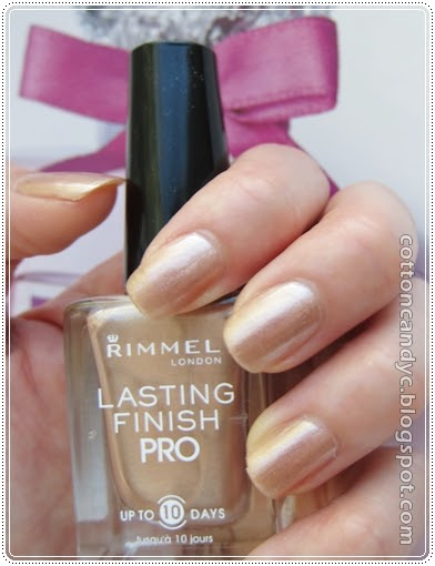 Cotton Candy Blog Nail Of The Day Rimmel Gold Silk And