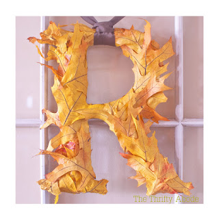 repost of a thrifty abode tutorial of leaf monogram via refabulous sqt