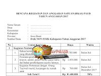 Contoh Laporan Awal RKAS BOP PAUD/TK, RA, Kober, Tahun Anggaran 2017  Sesuai Juknis Terbaru