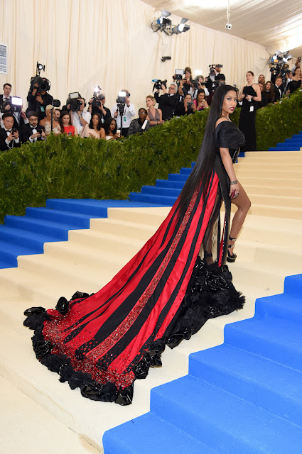 Nicki Minaj at The Met Gala 2017 in a design by H&M