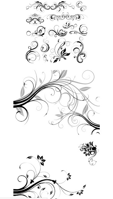 Free Download Ornament Floral Format CDR