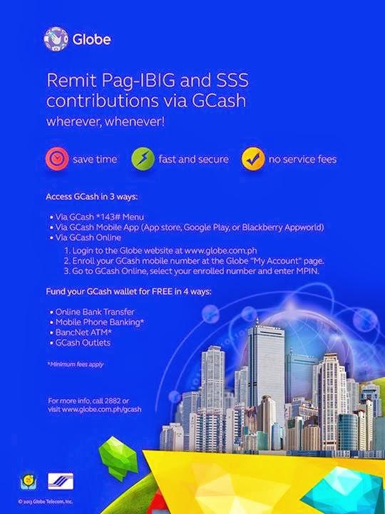 Pay SSS and PAG-IBIG using your Mobile phone via Globe Gcash