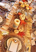 Amanda' Parties Thanksgiving Dinner Tablescape