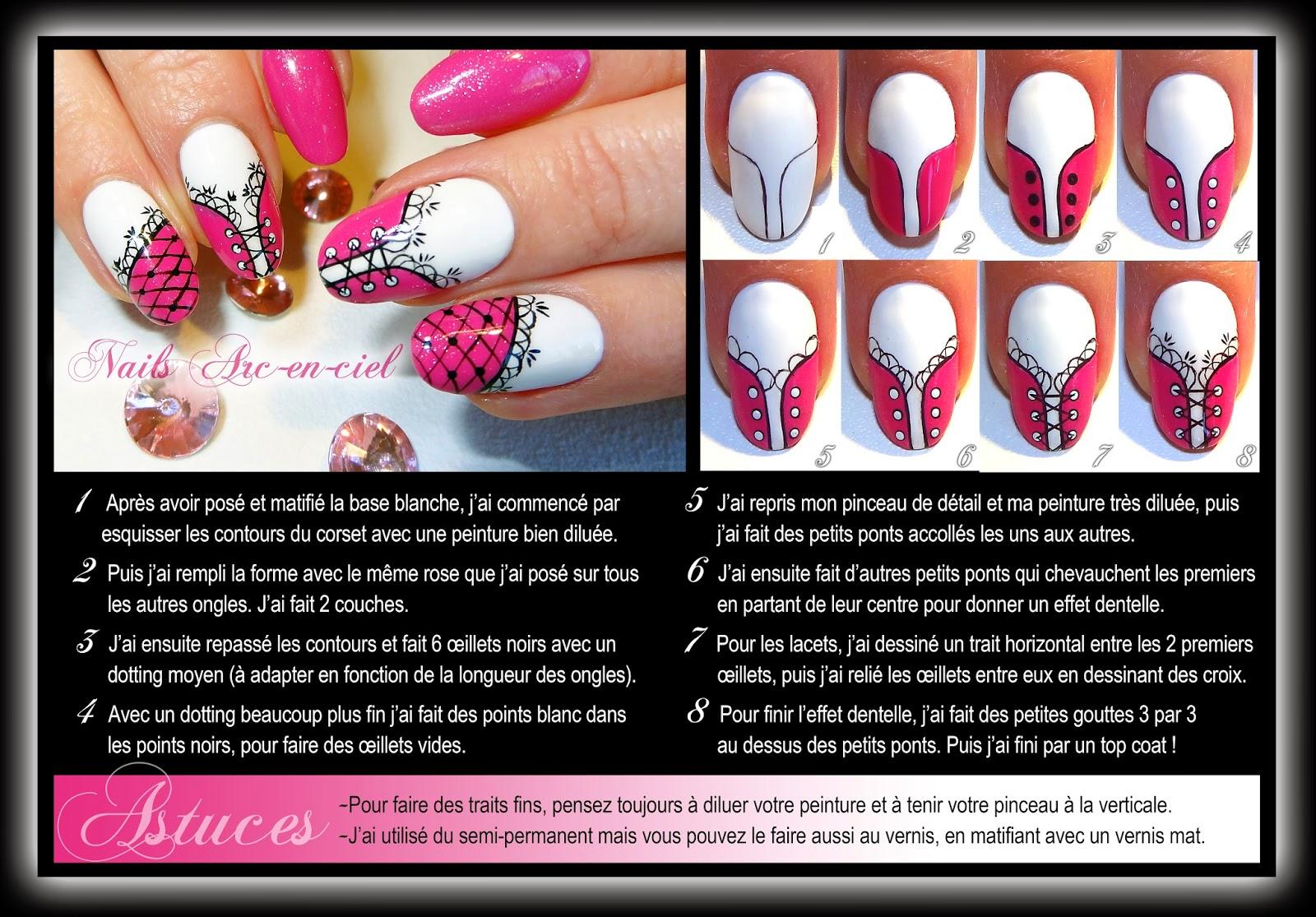 Exceptionnel Nails Arc-en-ciel: Tuto nail art Corset Barbie XG71