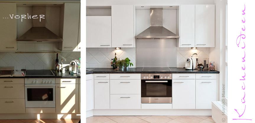 wir renovieren ihre k che weisse kueche neue fronten. Black Bedroom Furniture Sets. Home Design Ideas