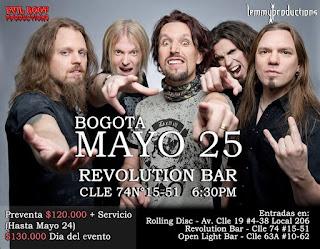 POWER METAL FEST 2 con Sonata Arctica en Bogotá