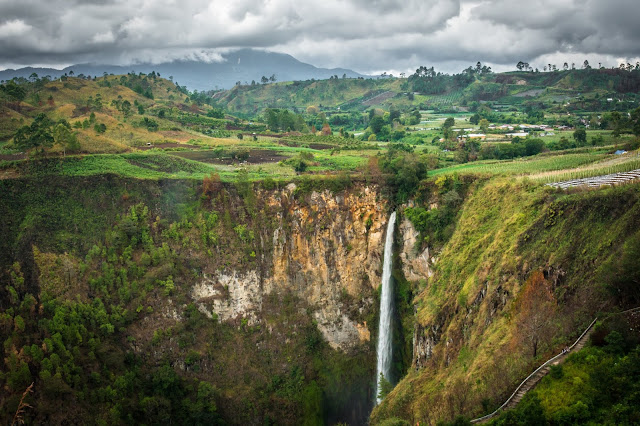 Travelling to Lake Toba in North Sumatera Indonesia