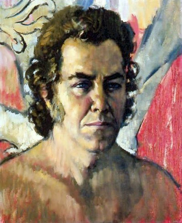 Jesús Blasco Monterde, Self Portrait, Portraits of Painters, Blasco Monterde, Fine arts, Portraits of painters blog, Paintings of Jesús Blasco Monterde, Painter Jesús Blasco Monterde