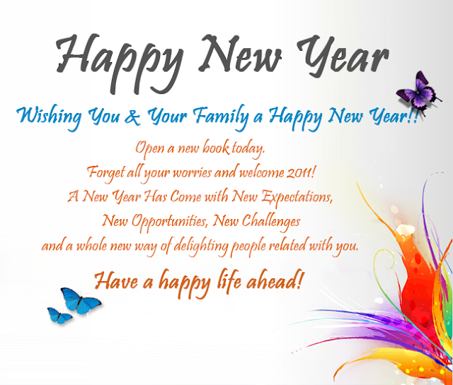 happy new year greetings and messages