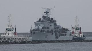 Maillé-Brézé convertido en el HMS Vivacious - película Dunkerque
