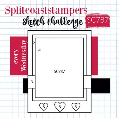 Splitcoaststampers Card Sketch Challenge 787
