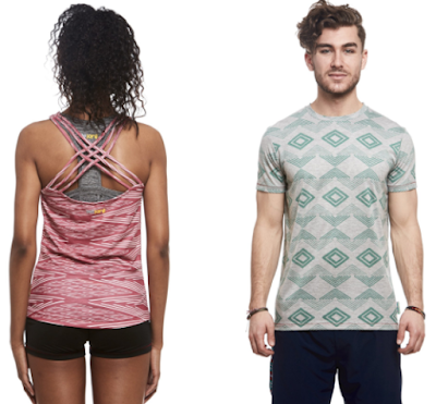 Janji men's Renegade tee or women's Raquel tank