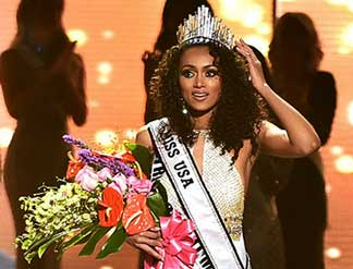 See, studying science can be fun too! Miss USA Kara McCullough (Source: TVline.com)