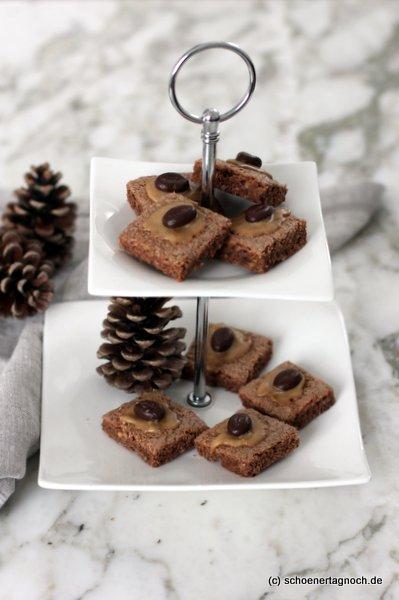Weihnachtsplätzchen Rezept für Mokka-Schnitten