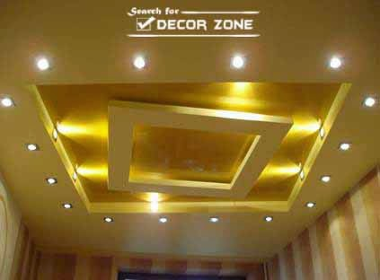 Living Room False Ceiling Design With Creative Tray